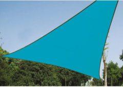 Lichtblauwe Velleman Schaduwdoek - Zonnezeil - Driehoek 5 X 5 X 5 M, Kleur: Hemelsblauw