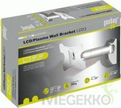 Zilveren Wentronic WH LCD-3 - Kantelbare en draaibare muurbeugel - Geschikt voor tv's van 17 t/m 42 inch - Zilver