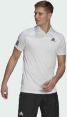 Witte Adidas Tennis Club 3-Stripes Poloshirt