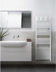 SAUTER Marapi Elektrische Handdoekverwarmer - 750 watt - Display met achtergrondverlichting - Wekelijkse programmering - Ronde buizen