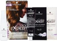 Goudkleurige 6-65 GOUDEN CHOCOLADE | SCHWARZKOPF COLOR EXPERT HAARKLEUR Voordeelpak 3x