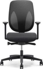 Bureaustoel Giroflex 353-8029 Rug Fabric Zwart - Zitting Zwart Gaja Classic GA60999 - Voetekruis Zwart - 4D armleggers - Rubber Wielen 50mm