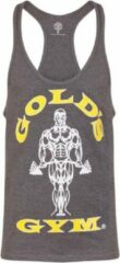 Licht-grijze Gold's gym GGVST003 Muscle Joe Premium String Vest - Grey Marl - XXL