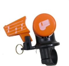 Nuvo Fietsbel met fluit - oranje