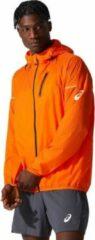 Asics - Fujitrail Jacket - Hardloopjack maat S, oranje/rood