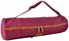 #DoYourYoga - yogatas - »Sunita« - yogabag van canvas - 63 x 13 cm. - roze-rood