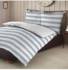 Biber Wendebettwäsche Streifen grau Bettwaren-Shop grau