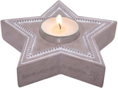 Happy-House Memory Collection Waxine Ster - Herdenken - 15x14.5x4 cm Beige