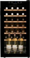 Zwarte Dunavox HOME 28 - Wijnkoelkast - Vrijstaand - 28 flessen - 1 zone