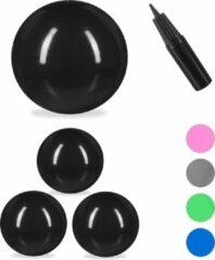 Relaxdays 4x fitnessbal 65 cm - gymbal - zitbal - yogabal - pilatesbal - pompje - zwart
