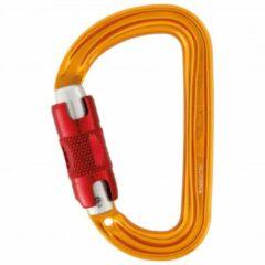 Oranje Petzl Sm'D - Twist lock automatisch sluitende D-vorm karabiner