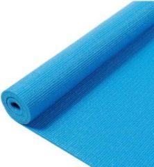 Q4life Sport Fitnessmat - 172 cm x 61 cm x 0.4 cm – Inclusief draagriem - ANTI Slip mat – 100% Huidvriendelijk & Duurzaam - Blauw