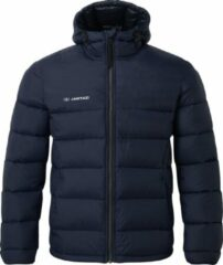 Marineblauwe Jartazi Jas Coach Junior Polyester/fleece Navy Maat 134/140
