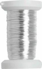 Glorex Hobby Zilver metallic bind draad/koord van 4 mm dikte 40 meter - Hobby artikelen/Knutselen materialen