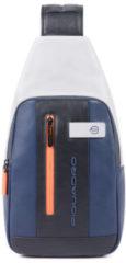 Blauwe Piquadro Urban Mono Sling Bag Blue/Grey