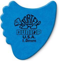 Jim Dunlop Dunlop Tortex® Fin 1.0mm Blauw 6-pack