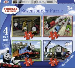 Ravensburger Thomas & Friends 4in1box puzzel - 12+16+20+24 stukjes - kinderpuzzel