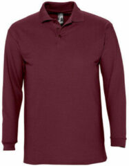 Paarse Polo Shirt Lange Mouw Sols WINTER 2 CASUAL MEN