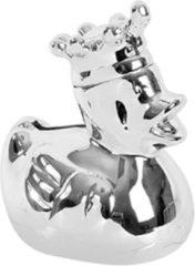 BamBam spaarpot Silverplated Duck 16 cm zilver