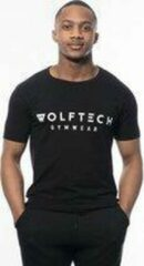 Wolftech Gymwear Sportshirt Heren - Zwart - XL - Slim Fit - Sportkleding Heren