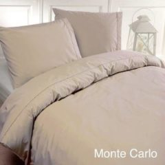 Zandkleurige Papillon Monte Carlo Dekbedovertrek - Tweepersoons - 200x200/220 cm - Zand