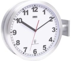 Balance Radio-Controlled Wall Clock 38 cm Analogue Silver/White