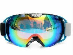 Improducts Skibril met lens blauw groen evo frame blauw X type 3 - ☀/☁
