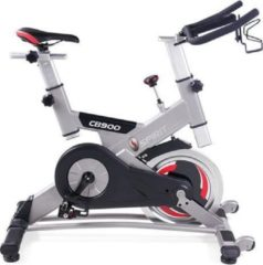 Grijze Spirit Fitness CB900 Spinningfiets - Professionele Spinning Bike / Spinbike / Cycle / Indoor Bike / Fietstrainer - Uitstekende Garantie - Geschikt voor thuis of Commercieel Gebruik