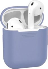 BTH Siliconen Bescherm Hoesje Case Cover voor Apple AirPods 1 Hoes Lila