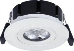 HOFTRONIC LED Inbouwspot Badkamer en Buiten - Napels - IP65 - 8 Watt - 2700K - Dimbaar - 360° Kantelbaar - Wit