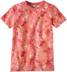 Hessnatur Kinder Shirt aus Bio-Baumwolle – pink bedruckt – Größe 092