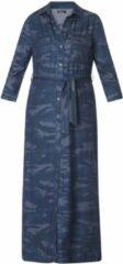 Blauwe Maxi jurk met print - Ivy Beau