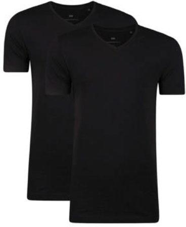 Afbeelding van WE Fashion Fundamental T-shirt met biologisch katoen zwart