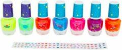 Paarse ProductGoods - 7 Dagen nagellak voor kinderen Glow In The Dark - Neon - Kinderen - Naggelak - nagellak kinderen - nagellak set