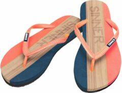 SINNER Capitola Dames Slippers - Oranje/Licht bruin - Maat 36