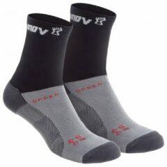 Grijze Inov-8 - Speed Sock High - Loopsokken maat L zwart/grijs