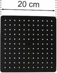 Excellent Wellness Regendouchekop - Mat Zwart - Vierkant - 20 cm