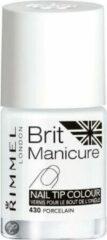 Witte Rimmel London Brit Manicure Nail Tip Colour - Nailwhitener