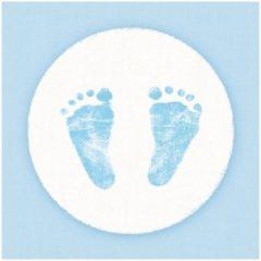 Ambiance servetten Servetten geboorte jongen blauw/wit 3-laags 20 stuks