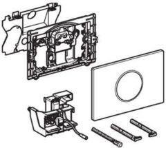 Geberit Sigma 10 WC-stuursysteem Sigma 10 SF electronisch, touchfree, netvoeding 24.6x16.4cm m. infrarood t.b.v. UP300/320 glans/mat verchr./glans verchr.