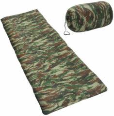 VidaXL Kinderslaapzak envelop lichtgewicht 15 670 g camouflage