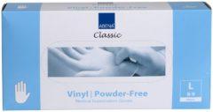 Witte Abena - Vinyl Handschoenen - Wit - Poedervrij - Maat L - 100 Stuks