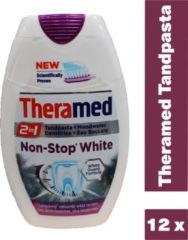 Theramed Tandpasta - 2 In 1 Non-Stop White 12 x 75 ml