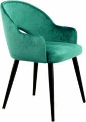 Kayoom Eetkamerstoel 'Joris' Velvet, kleur groen