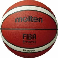 Oranje Basketball ball competition MOLTEN B5G3800 FIBA, synth. leather size 5