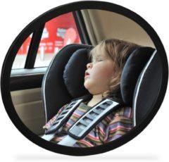 Zwarte Relaxdays autospiegel baby - achterbank spiegel - achteruitspiegel - spiegel auto kind