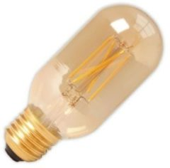 Calex LED Full Glass Filament Tubular-Type lamp 240V 4W 320lm E27 T45x110, Goud 2100K dimbaar, energie label A+