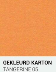 Oranje Gekleurdkarton notrakkarton Gekleurd karton tangerine 05 A4 270 gr.