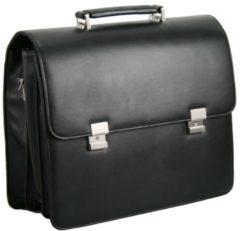 Basic Aktentasche 41 cm Laptopfach D&N schwarz