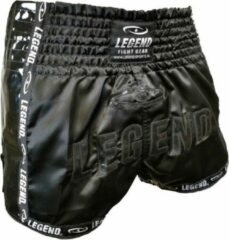 Zwarte Legend Sports Kickboks broekje glamour black Legend Trendy 8-11 jaar